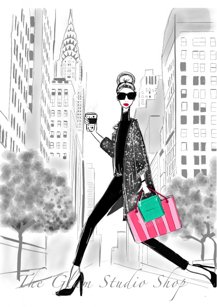 fashion illustration nyc new york shopping illustration glam observer