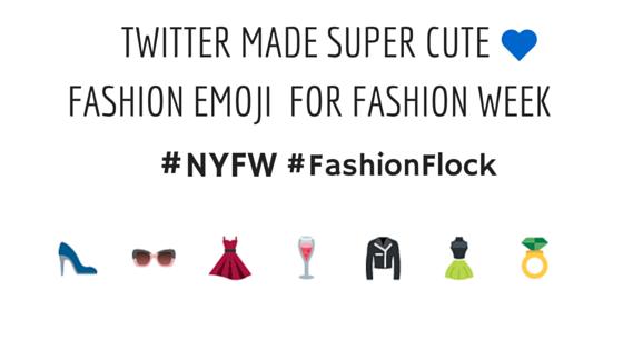 Le emojis di Twitter per la Fashion week ( We love them)