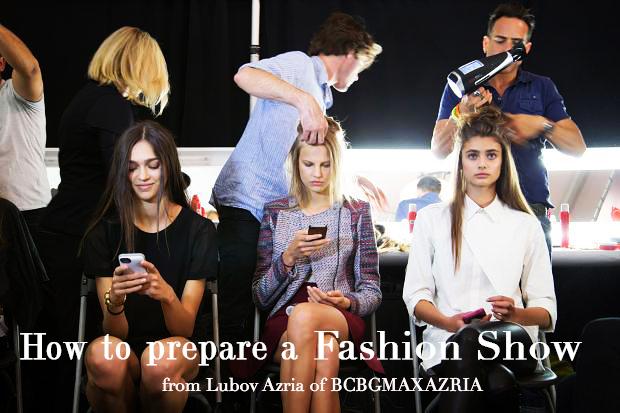 How designers prepare everything for a fashion show