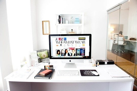 home office decor idea for blogger