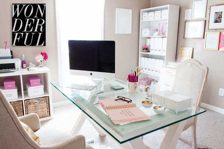 Best home office ideas for bloggers and girl bosses glam for Home office makeover ideas