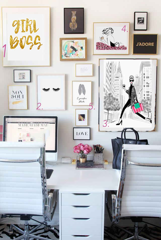 Best home office ideas for bloggers and girl bosses glam - Work office decorating ideas pictures ...