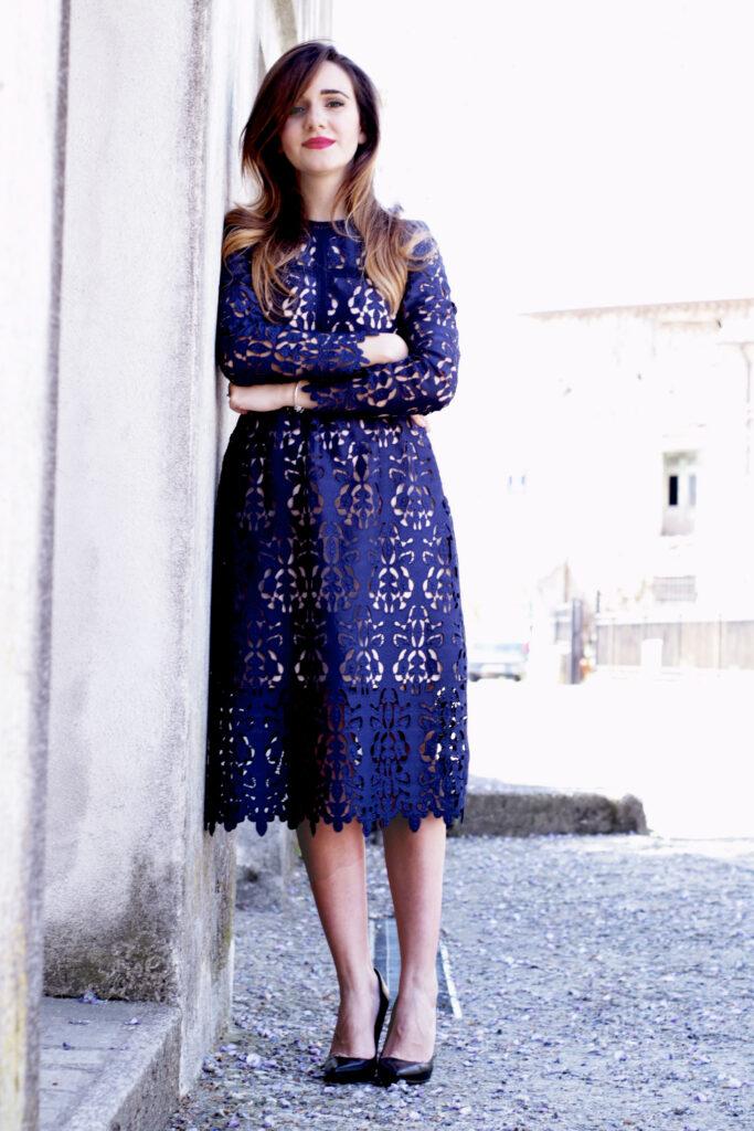 total blue floral dress