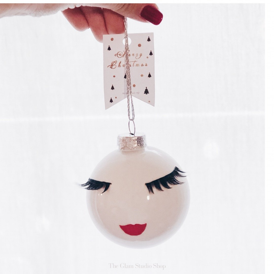 Christmas ornaments with lashes