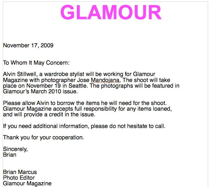 What Is A Fashion Magazine Pull Letter And Why You Need It If You Re A Stylist Glam Observer