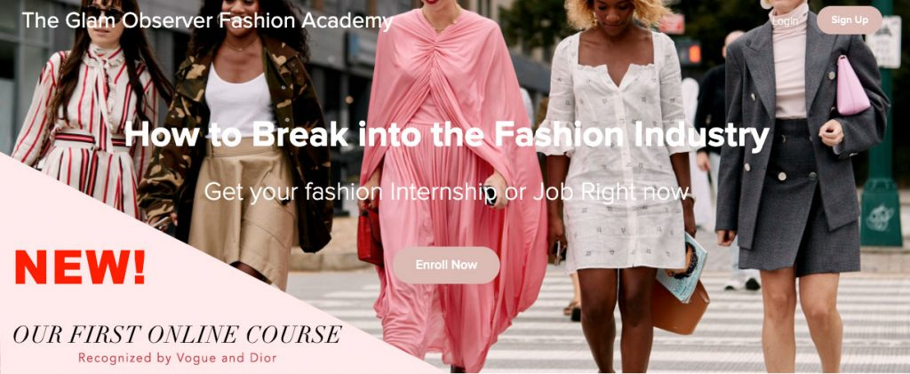 how to break into the fashion industry online course
